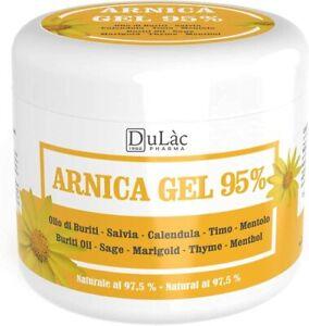 Arnica Per Cavalli Uso Umano 500 ml Dulàc Made in Italy, Arnica Gel Forte 95% di