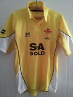 Wales Rugby Union Shirt 2008 2009 Away Top Under Armour Jersey Yellow Mens Size