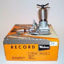WEBRA RECORD 1.48 ccm .09 cu.in. RC Diesel Engine