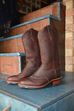 NEW!! CHIPPEWA BISON LEATHER WESTERN STYLE WORK BOOTS! SZ 7 EE