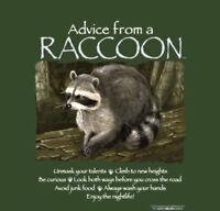 Raccoon T-shirt S M L XL 2XL Advice Green Short Sleeve Cotton NEW NWT Gildan