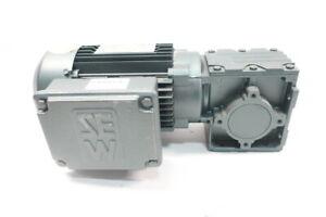 Sew Eurodrive W30 DT80N4/2 Gearmotor 256rpm 3ph 3/4hp 3/4in 460v-ac