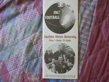 1967 Southern Illinois Salukis Football Media Guide Yearbook Dick Towers Program