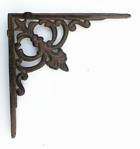 Cast Iron Ornate Shelf Bracket 26cm x 26cm in 3 colours