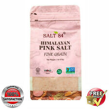 Salt 84 @ Himalayan Pink Salt Vegan Kosher Halal @ 1 lb/454g -BEST PRICE ON EBAY