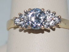 10k Gold ring with CZ cluster