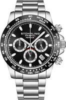 "Stuhrling 891 Men's Sport Formula ""i"" Stainless Steel Quartz Chronograph Watch"