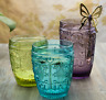 Solid Color Quality Water Cups, Juice Cups, Set of 4, Cap 8 Oz or Cap 10 Oz.