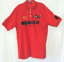 MONACO Grand Prix Formula 1 Racing RED T Shirt Men's XXL 100% Soft Cotton