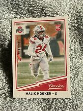 2017 Panini Classics Short Print Rookie Malik Hooker Serial Numbered /299