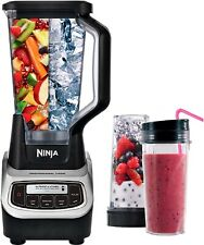 Ninja Professional 72-Oz. Blender & Nutri Ninja Cups Black/Silver BL621