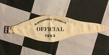 ORIGINAL 1963 15th INTERNATIONAL TULPEN TULIP RALLY RALLYE OFFICIAL ARMBAND PASS