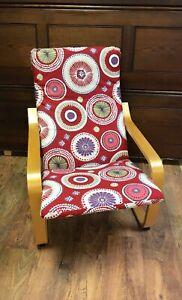 Custom, Hand Made Ikea Alme Poang cover Circle pattern cotton fabric