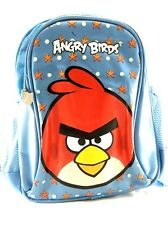 "Rovio Angry Birds Logo Cargo Boys & Girls 10"" Canvas Shine Blue School Backpack"