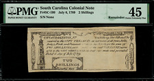 Colonial Currency - City of Charleston South Carolina July 6, 1789 2s PMG 45