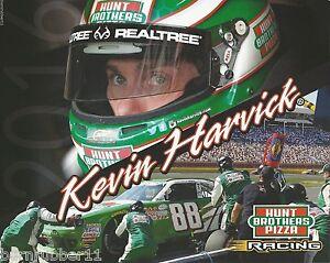 "2016 KEVIN HARVICK ""HUNT BROS PIZZA JR MOTORSPORTS"" #88 NASCAR XFINITY POSTCARD"