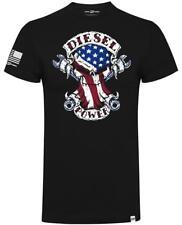 Diesel Power Gear American Built Skull Official Diesel Sellerz Black Men TShirt