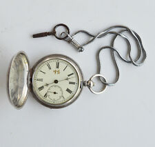 ANTIQUE FRENCH POCKET WATCH CHINA DUPLEX SILVER SIGNED FOR CHINESE MARKET