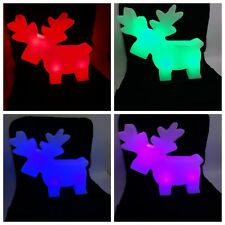 Tarrington House Leuchtender LED Elch versch. Farben Akku 49 cm Weihnachtsdeko
