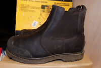Site Prairie Brown Leather Chelsea Safety Boots Steel Toe UK 10 / EU 44 - AA51