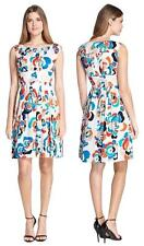 NWT Plenty by Tracy Reese Tabitha Floral Sleeveless Gathered Fit Flare Dress~10