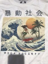 New listing Riot Society Japan Surfing White LS Shirt Size Large NEW