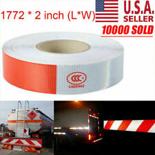 """New listing 2""""x150 Premium Reflective Red and White Conspicuity Tape Trailer New Usa"""