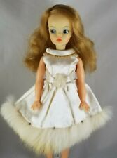 Japanese exclusive Tammy Doll rare IDEAL scarlet clone white satin fur dress