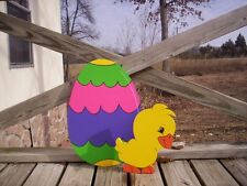 EASTER EGG and CHICK Yard Art Decoration---2 pcs