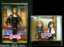 GREASE Barbie Doll Sandy Black Leather 25th Anniversary Kelly Tommy Lot 2 ""
