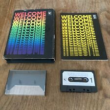 WELCOME - by BBC soft - BBC micro cassette Original Case And Manual.