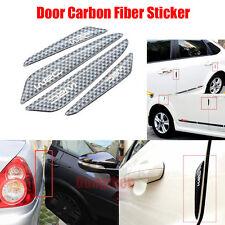4 Black Carbon Fiber Sticker Car Van Door Anti Collision Scratch Edge Protector