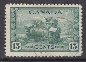"Canada Scott #258  13 cent Ram Tank ""GKVI War""  F"