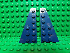 Lego NEW dark blue 6 x 3 plate wedge pieces   two sets (4 pieces)