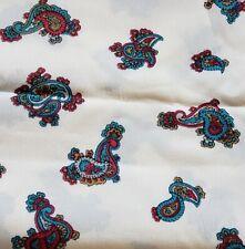 """Paisley Rosa material de tela de algodón artesanía acolchado FQ Metro 45/"""" Ancho Shabby Chic"""