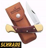 "9"" Schrade LB7 Uncle Henry Bear Paw Lockback Knife w/Leather Sheath Brand New"