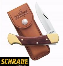"9"" Schrade LB7 Uncle Henry Bear Paw Lockback Knife w/Leather Sheath Brand New"