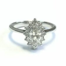 Engagement Halo Excellent Cut White Gold Fine Diamond Rings