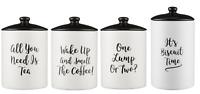 Price & Kensington Carnaby Stoneware Tea Coffee Sugar Canisters Cookies Airtight