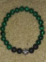"Handmade Natural Gemstone Round Beads Stretch Bracelet Bangle 7"""