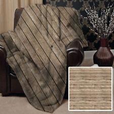 Couvertures marron pour le lit Salon