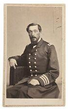 1860s Civil War Navy Captain Percival Drayton Cdv Photo New Orleans Brown Water