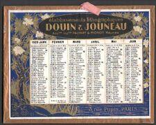 Calendrier 1929. Etablissements lithographiques Douin & Jouneau. Paris