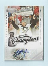 JORDAN STAAL 2010/11 CERTIFIED CHAMPIONS SIGNATURE AUTOGRAPH AUTO # 01/50