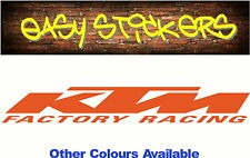 BUY 2 GET 1 FREE! 300mm KTM Sticker Bike MX Motocross Car Ute Windscreen Trailer