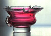 "1970's Vintage Bohemian Powder Dresser Jar/ Ashtray "" Violet"" Chribska Josef Hos"