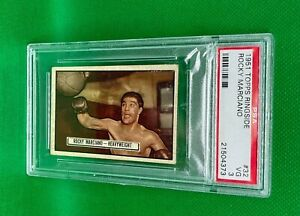 1951 TOPPS RINGSIDE ROCKY MARCIANO ROOKIE RC #32 PSA 3 VERY GOOD