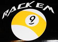 Rack Em 9ball 2 color decal sticker pool billiards hustler nineball