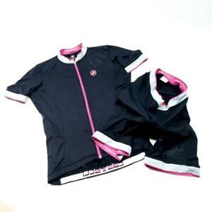 CASTELLI Cycling Short Sleeve Jersey & Matching Padded Comp Shorts - XL - L