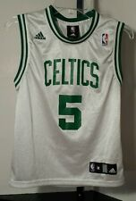 Boston Celtics #5 Kevin Garnett NBA Adidas (White) Jersey Youth/Boys Medium